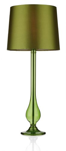 Dillon Green Table Lamp complete with shade DIL4074 (780154) (Class 2 Double Insulated)